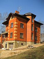 """Фасад загородного дома в поселке """"Машкинские холмы"""""""