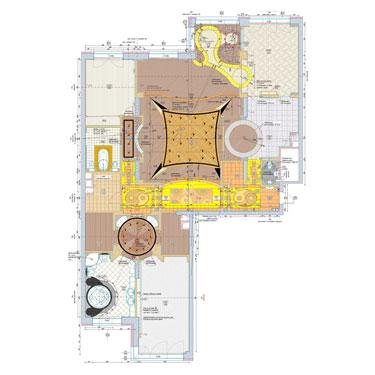 Квартира со свободной планировкой. План полов
