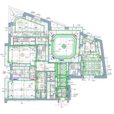 Квартира со свободной планировкой. План потолка