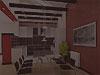 Загородный дом.Кухня-столовая